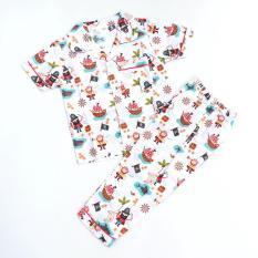 Sleepwearkids piyama baju tidur anak pirates-putih
