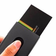 Sliding Business Credit Name Card Case Holder Wallet Black - intl