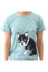 Sook Woman T-Shirt (Print Anjing) - Sea Green