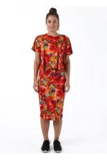 Sook Woman Top Flower - Merah