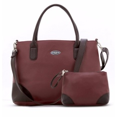 Sophie Paris Sharapova Bag - Tas Selempang Wanita Maroon 1Set 2Pcs
