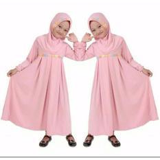 SR Collection Hijab Anak Falina Kombinasi Renda - Pink Rose