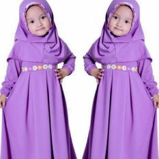 SR Collection Hijab Anak Falina Kombinasi Renda - Ungu Muda