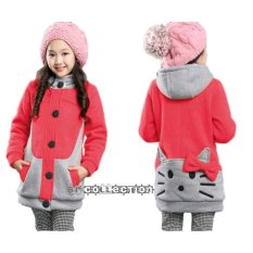 SR Collection Jaket Anak Perempuan Hoodie Motif HK Funny - Peach