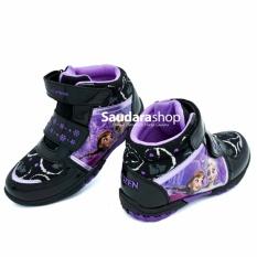 SS Sepatu Casual Tinggi Frozen Hitam Unggu [28-33] / Sepatu Sekolah Anak TK