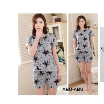STLN462 - Setelan Pendek Fashion Black Star
