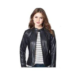 Style Fashion - Jaket Kulit Wanita Kualitas Premium - Hitam