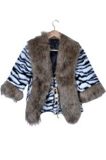 Stylish Trench Lady's Faux Fur Collar SCoat Jacket (Intl)