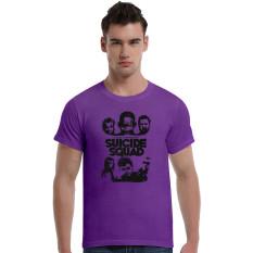 Suicide Squad Cotton Soft Men Short T-Shirt (Purple) - Intl