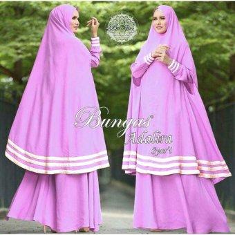 Suki Dress Muslim Adalira Syari'I - Ungu Muda