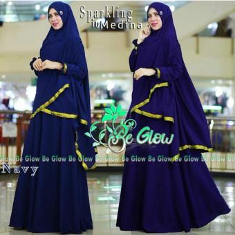 Suki Dress Muslim Inmedina Syari'I - Navy Blue