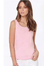 Summer Casual Blouse Tops with Bow (Pink)