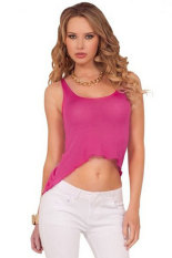Summer Casual Tank Top (Pink)