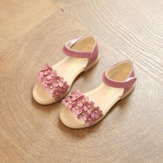Summer girl little flower sandals casual soft bottom fashion princess shoes(Pink) - intl