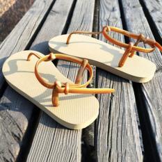 Summer Roman Sandals Simple Flat Clip Toe Beach Sandals Slippers (Gold)