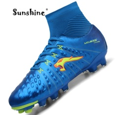 Sunshine 2017 Original New York Men's Football Boots / Soccer Shoes Sneakers High Help - Blue - intl