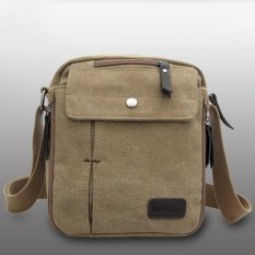 Sunweb Men Messenger Bag Canvas Vintage Shoulder Crossbody BagsOutdoor Travel Bag (Brown)