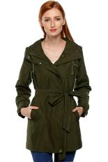 SuperCart ANGVNS Stylish Ladies Women Front Zip Long Sleeve Hoodie Windcoat Trench Coat Jacket (Green) (Intl)