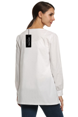 SuperCart ANGVNS Women Workwear Warm Up Solid Color Jacket (White) (Intl)