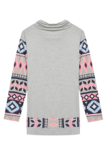 SuperCart Fashion Women Ladies Patchwork Long Sleeve Spring Autumn Blouse Tops (Grey) (Intl)