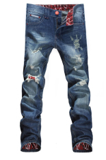 SuperCart Mens Designed Straight Slim Fit Casual Jean (Intl)