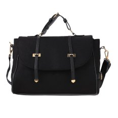 SuperCart Women Casual Fleece Top-Handle Bag (Black) - Intl