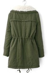 SuperCart Women Winter Outerwear Cotton-Padded Jacket Medium-Long Thin Waist Wadded Jacket Thick Coat (Amy Green) (Intl)