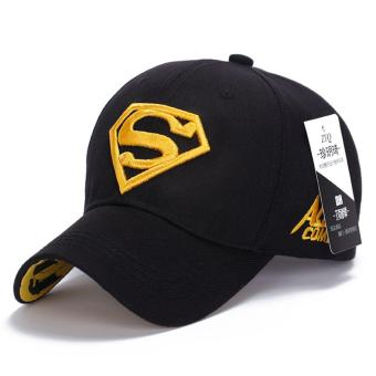 Superman Baseball Cap Hats for Men Women Adjustable S Letter Casual Outdoor Snapback Hat(yellow&black) (Int: One size)