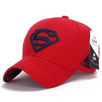Superman Baseball Cap Hats for Men Women Adjustable S Logo Letter Casual Outdoor Snapback Hat(dark blue&red) (Int: One size)