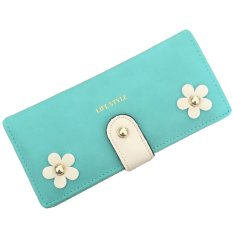Surker Sweet Three-Dimensional Flowers Decorative Rivets Womens Long Wallet BAG00448 (Intl)