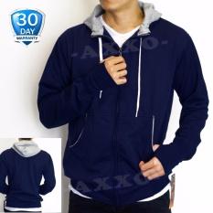 Sweater Hoodie Korean Style Zipper Polos - Baju Sweater Pria - Jaket Pria - Jaket Sweater
