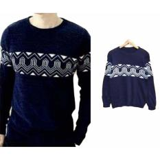 Sweater Pria Rajut - Anthony Navy - Rajut Tribal