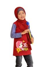 Syamsakids Baju Muslim Anak SL064 - Pretty Hijab - Merah