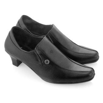 Syaqinah Kulit Sepatu Wanita - Hitam