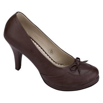 Syaqinah Sepatu Heels - Coklat