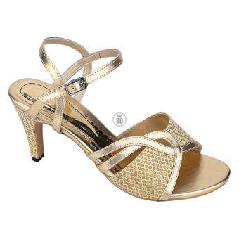Syaqinah Sepatu Heels Wanita - Gold