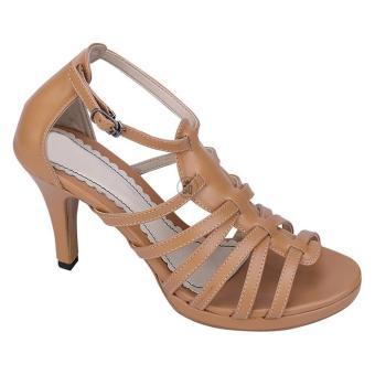 Syaqinah Sepatu Heels Wanita - Tan