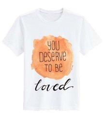 Sz Graphics Deserves T Shirt Wanita Kaos Distro Wanita Kaos Murah T Shirt Fashion Wanita T Shirt Kaos Wanita-Putih