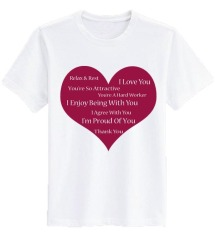 Sz Graphics Love Heart T Shirt Wanita Kaos Wanita T Shirt Fashion Wanita T Shirt Kaos Distro Wanita-Putih