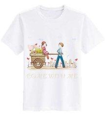 Sz Graphics T Shirt Wanita T Shirt Fashion Come with Me Kaos Wanita - Putih