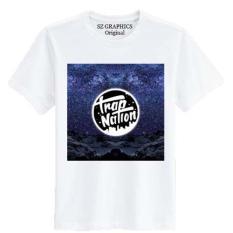 Sz Graphics / Trap Nation Navy / T Shirt Pria Wanita / Kaos Pria Wanita / T Shirt Fashion Pria Wanita / T Shirt Distro Pria Wanita Kaos Distro Pria Wanita-Putih