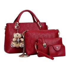 Tas Fashion - High Quality Korean Style 4in1 - Maroon