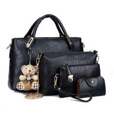 Tas Handbag Cantik 53276 Black (4 In 1) Import