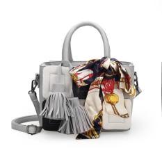 Tas Handbag Selempang Wanita Cantik Unik 53362 Gray Import