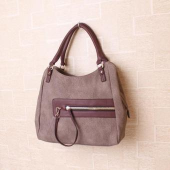 Tas Handbag / Shoulder Bag Cantik Elegan 82242 Brown Import