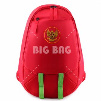 Tas Ransel Bola Pria Garuda Indonesia Laptop Backpack Men Soccer Editions - Red
