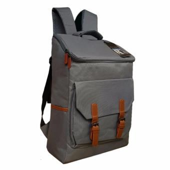 Tas Ransel Korean Backpack Polo Tokyo LLC 7201-17 Grey Polyester Canvas