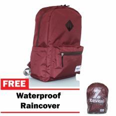 Tas Ransel Zeven - Merah Maroon ( Gratis Raincover )
