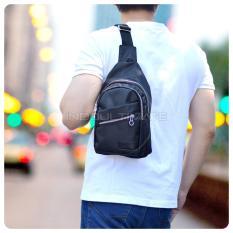 Tas Selempang Pria Kualitas Import/Unisex/Tas Punggung Slempang/Sling Bag FS TB-9781 - Black