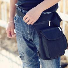 Tas selempang pria /Pinggang / Traveling Men's Waist Sling Bag - HITAM